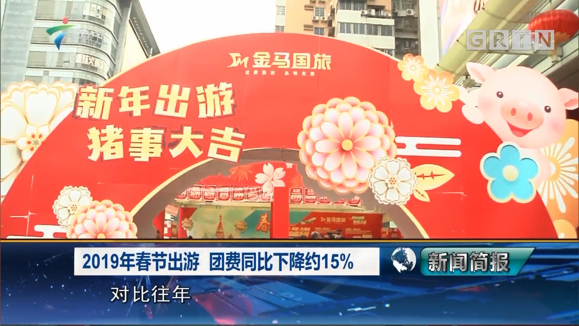 2019年春节出游 团费同比下降约15%