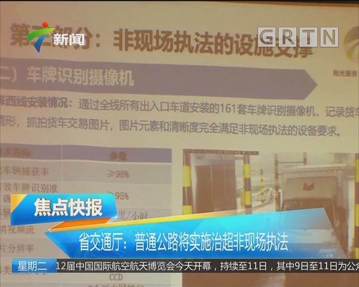 省交通厅:普通公路将实施治超非现场执法