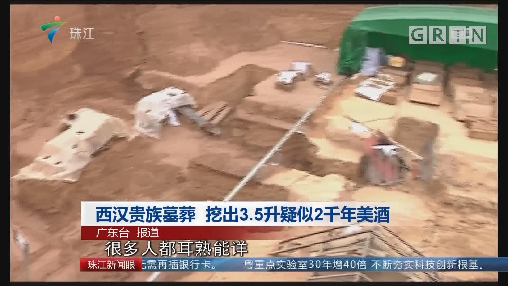 西汉贵族墓葬 挖出3.5升疑似2千年美酒