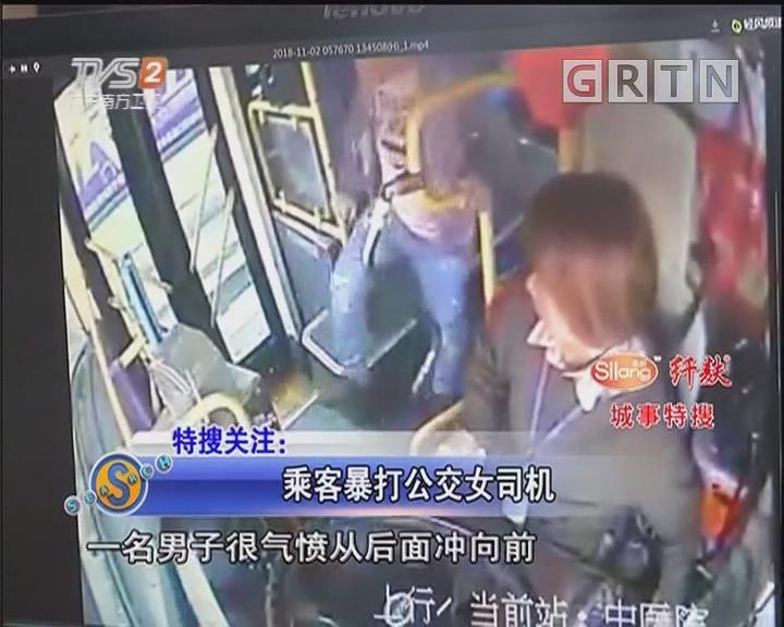 乘客暴打公交女司机
