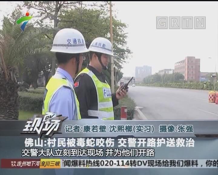 佛山:村民被毒蛇咬伤 交警开路护送救治