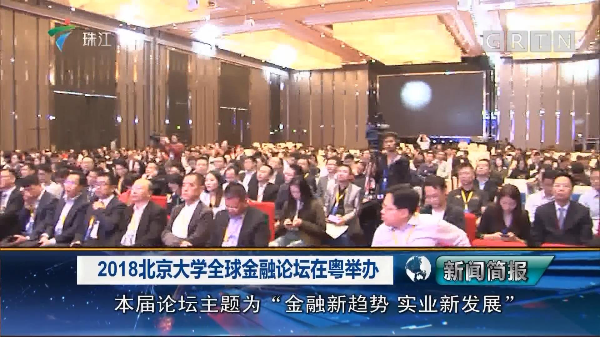 2018北京大学全球金融论坛在粤举办