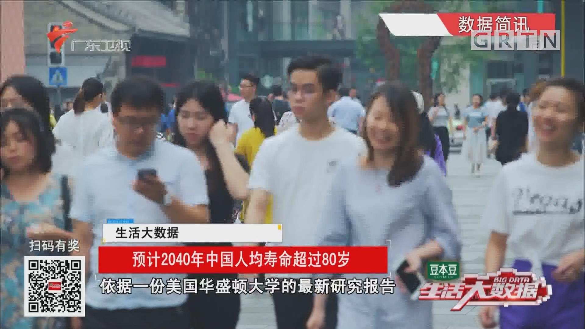 预计2040年中国人均寿命超过80岁