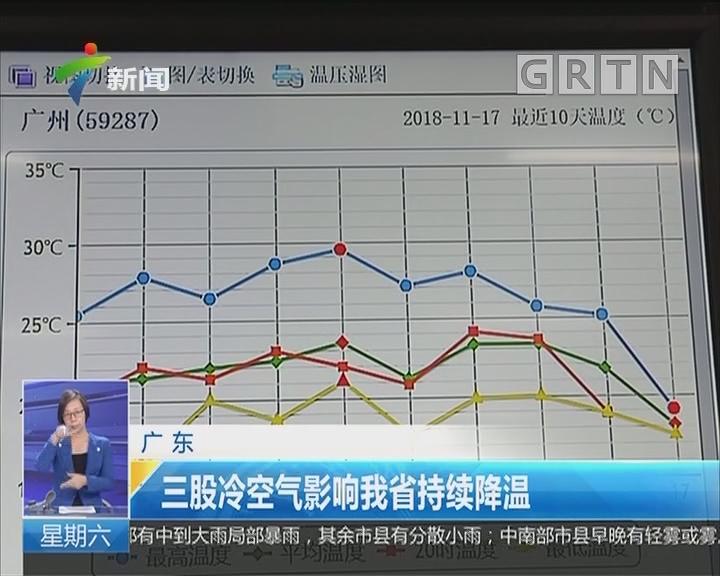 广东:三股冷空气影响我省持续降温
