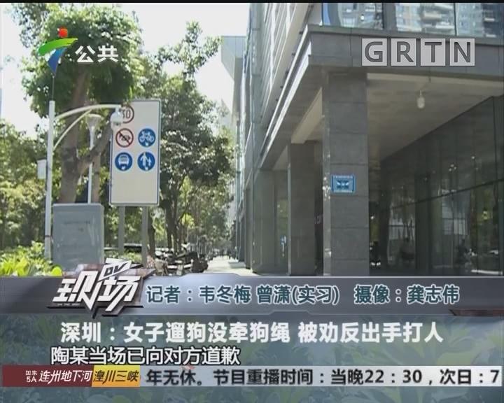 深圳:女子遛狗没牵狗绳 被劝反出手打人