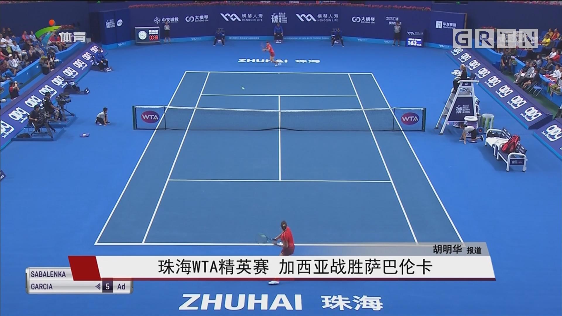 珠海WTA精英赛 加西亚战胜萨巴伦卡