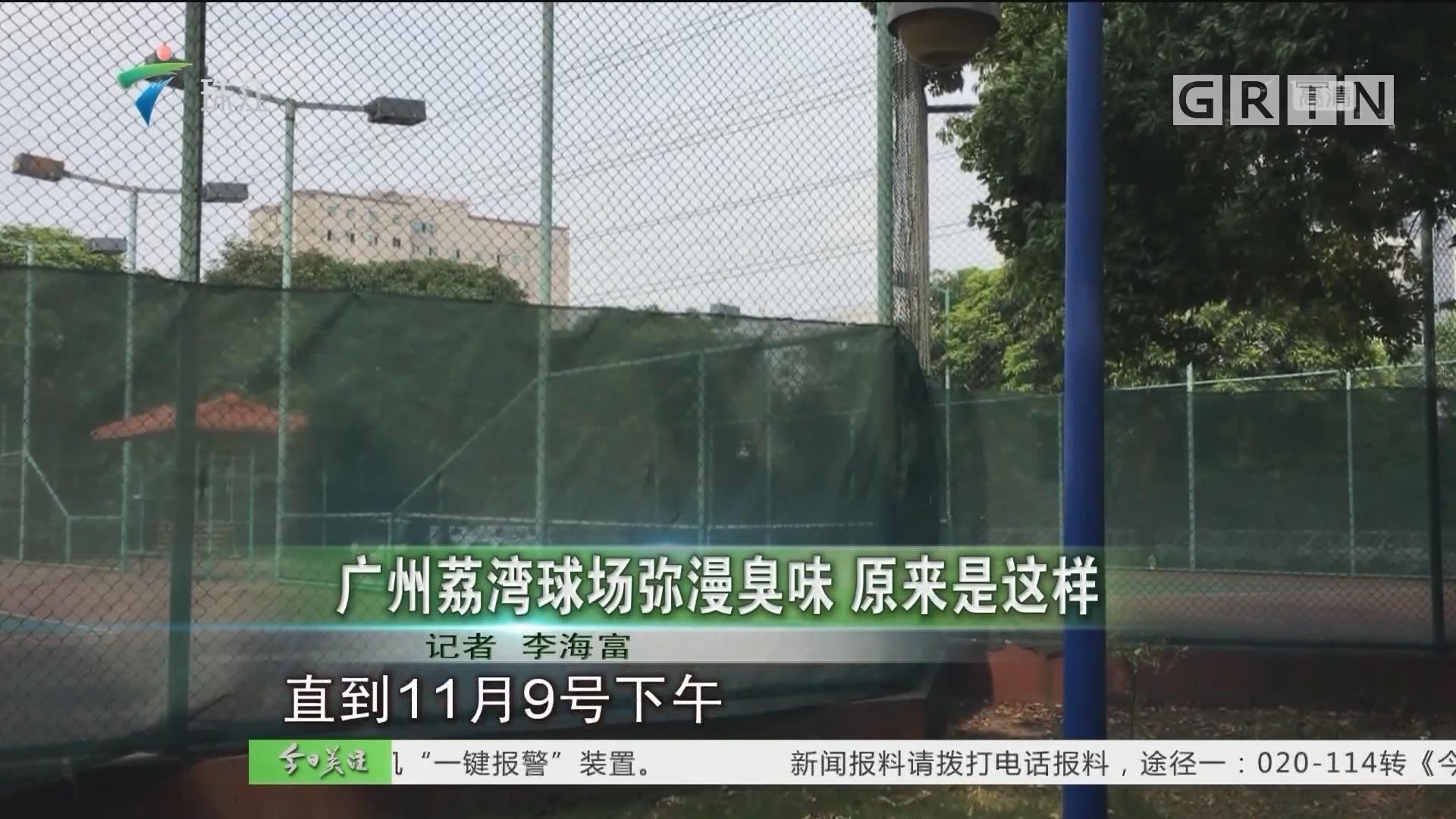 广州荔湾球场弥漫臭味 原来是这样