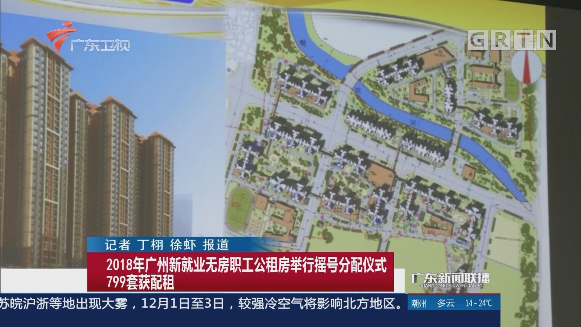 2018年广州新就业无房职工公租房举行摇号分配仪式 799套获配租