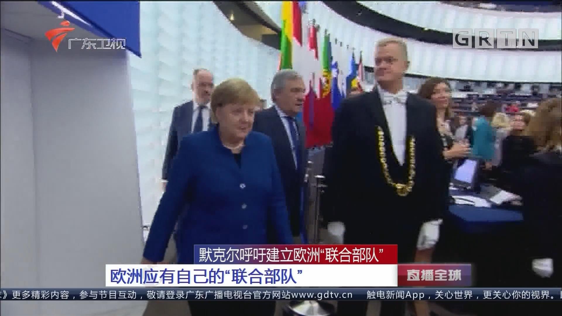 """默克尔呼吁建立欧洲""""联合部队"""" 欧洲应有自己的""""联合部队"""""""