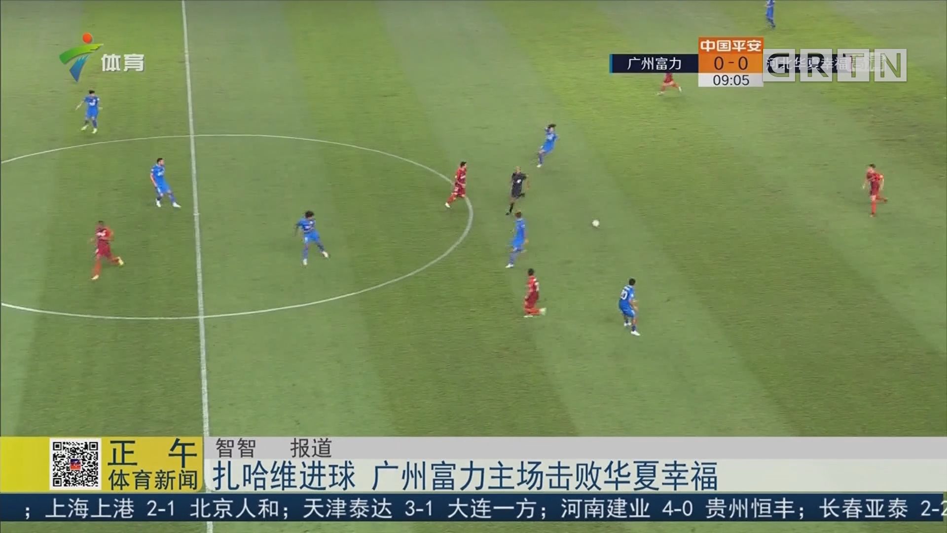 扎哈维进球 广州富力主场击败华夏幸福