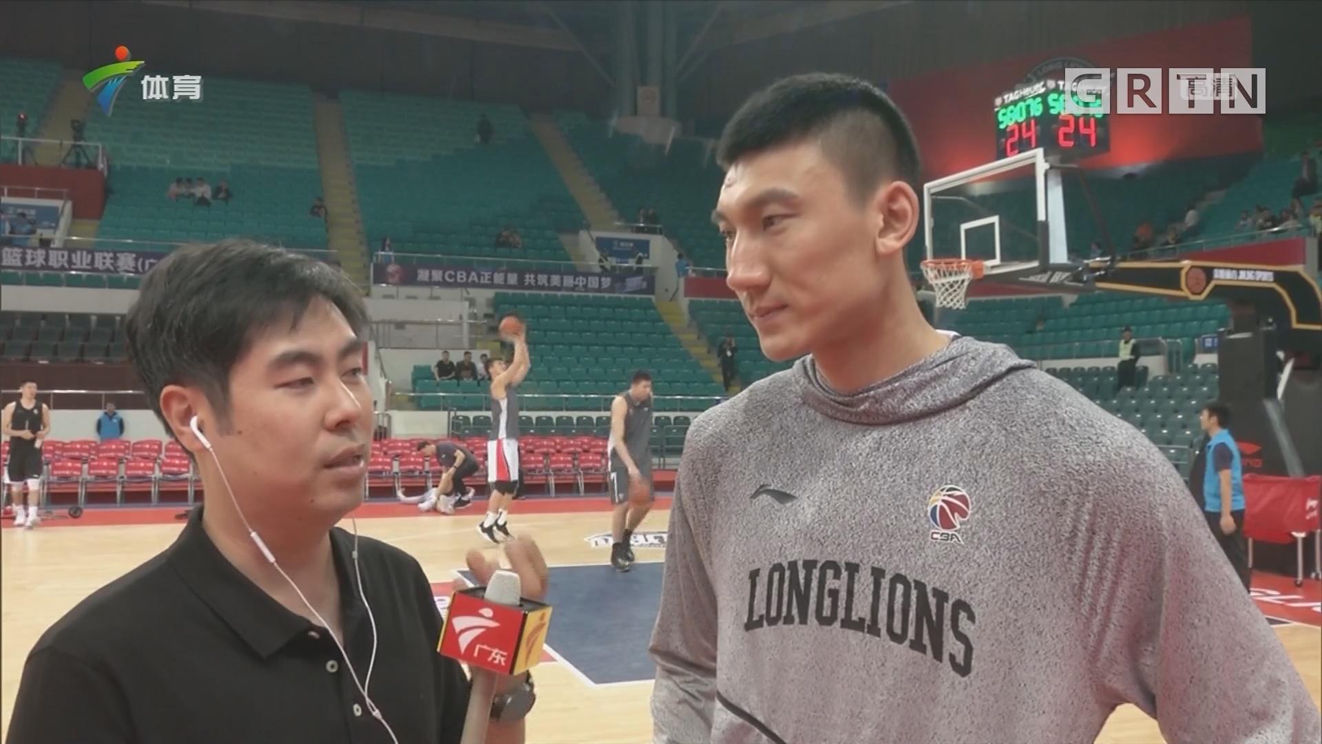 记者连线:广州队主力采访