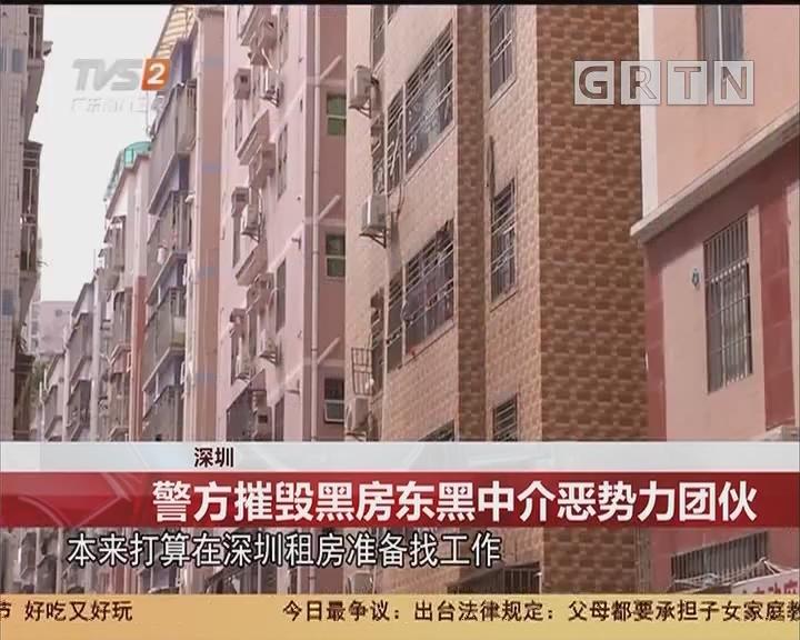 深圳:警方摧毁黑房东黑中介恶势力团伙