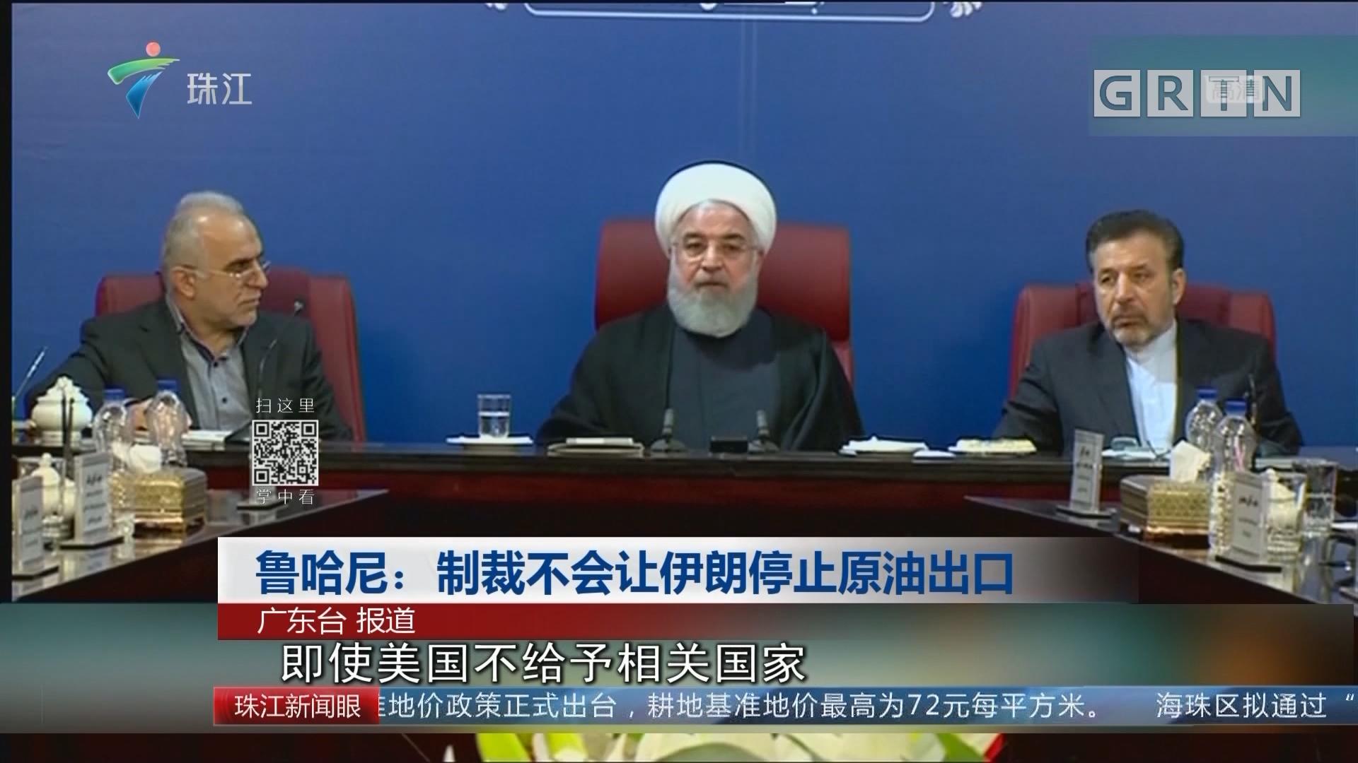 鲁哈尼:制裁不会让伊朗停止原油出口