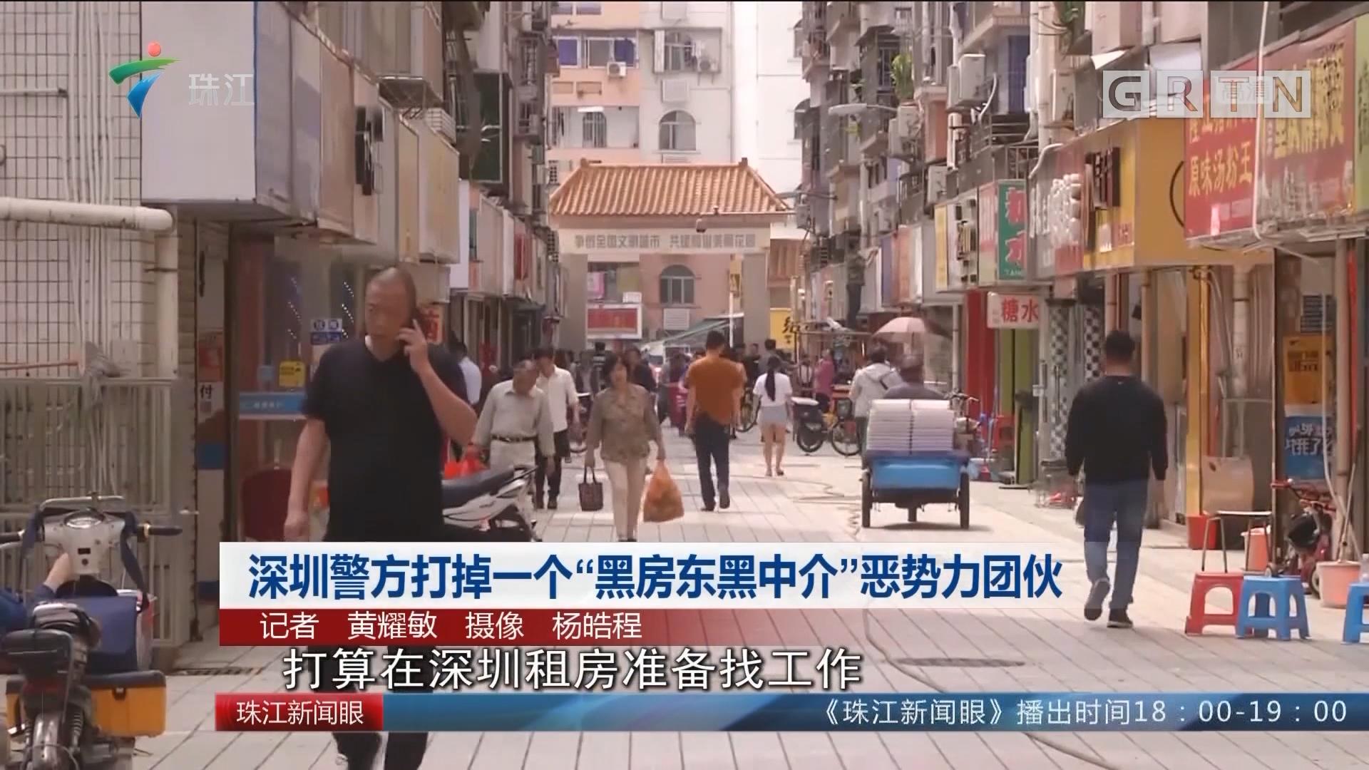 """深圳警方打掉一个""""黑房东黑中介""""恶势力团伙"""