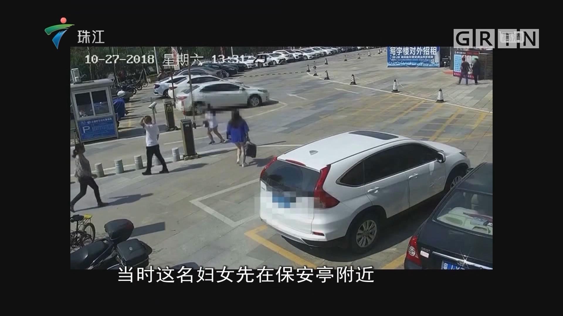 台山:当街抢小孩?女子被保安控制