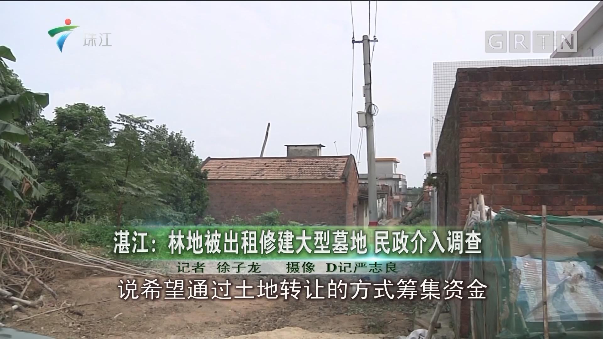 湛江:林地被出租修建大型墓地 民政介入调查