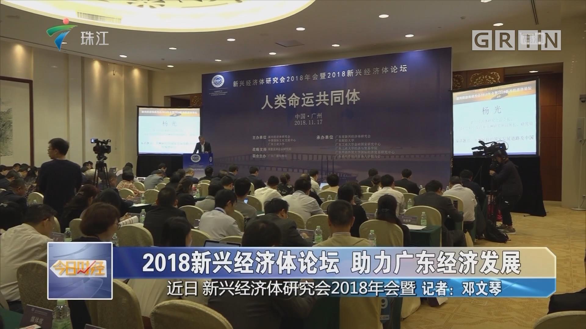 2018新兴经济体论坛 助力广东经济发展