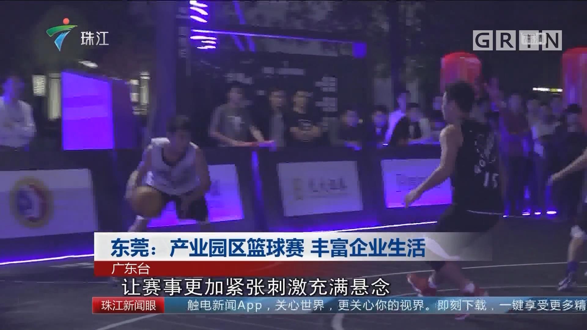 东莞:产业园区篮球赛 丰富企业生活