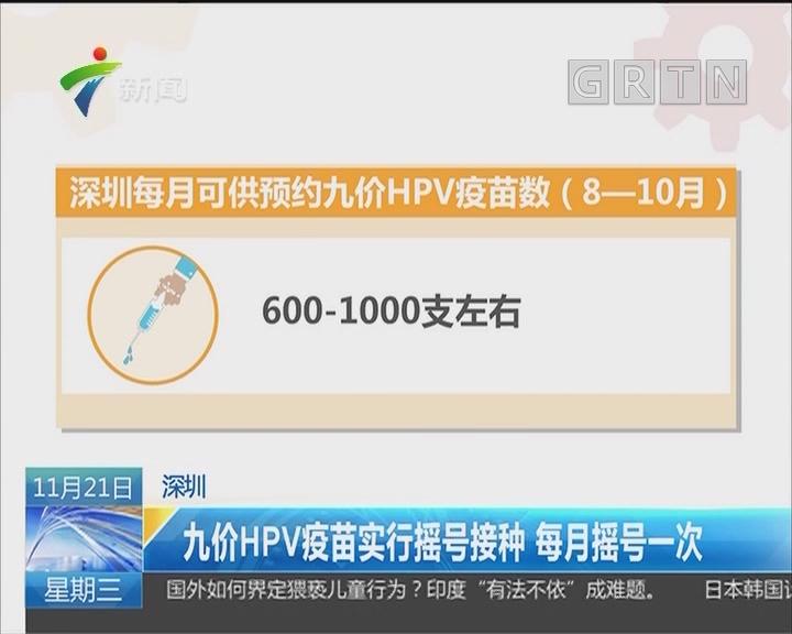 深圳:九价HPV疫苗实行摇号接种 每月摇号一次