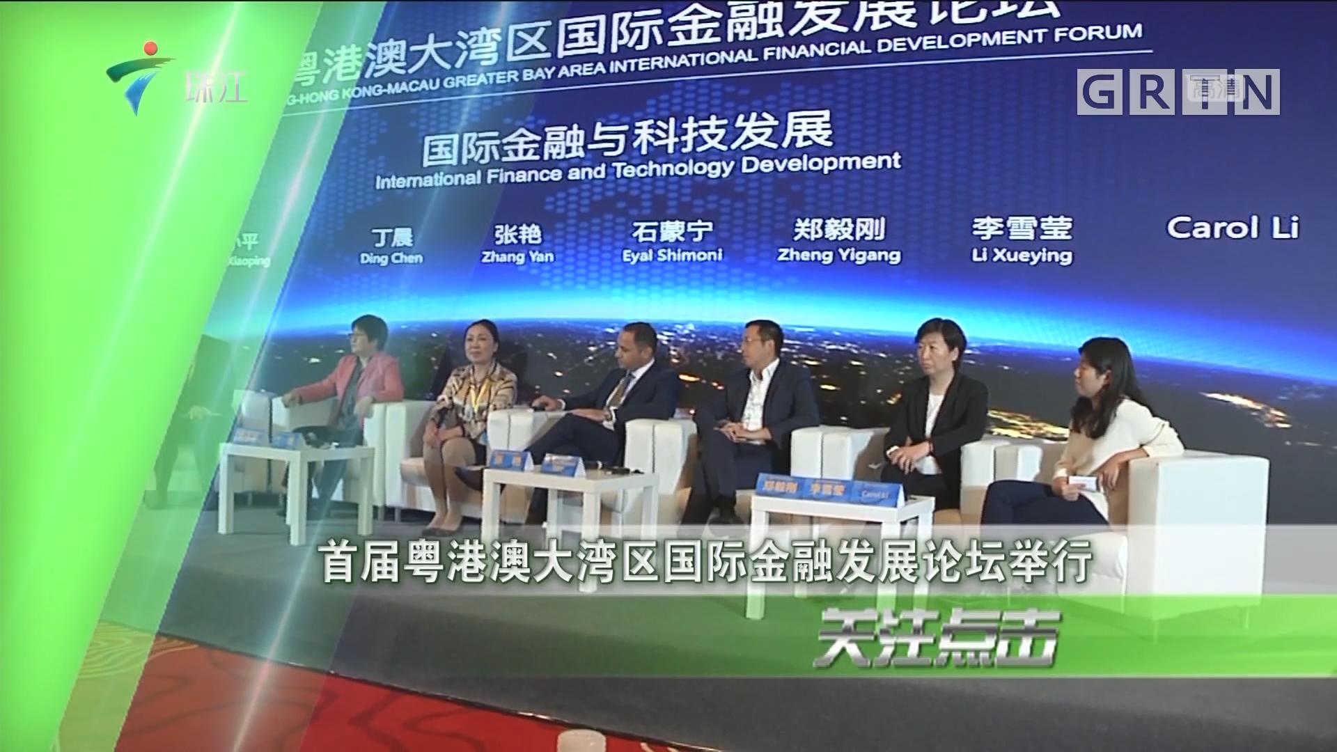 首届粤港澳大湾区国际金融发展论坛举行