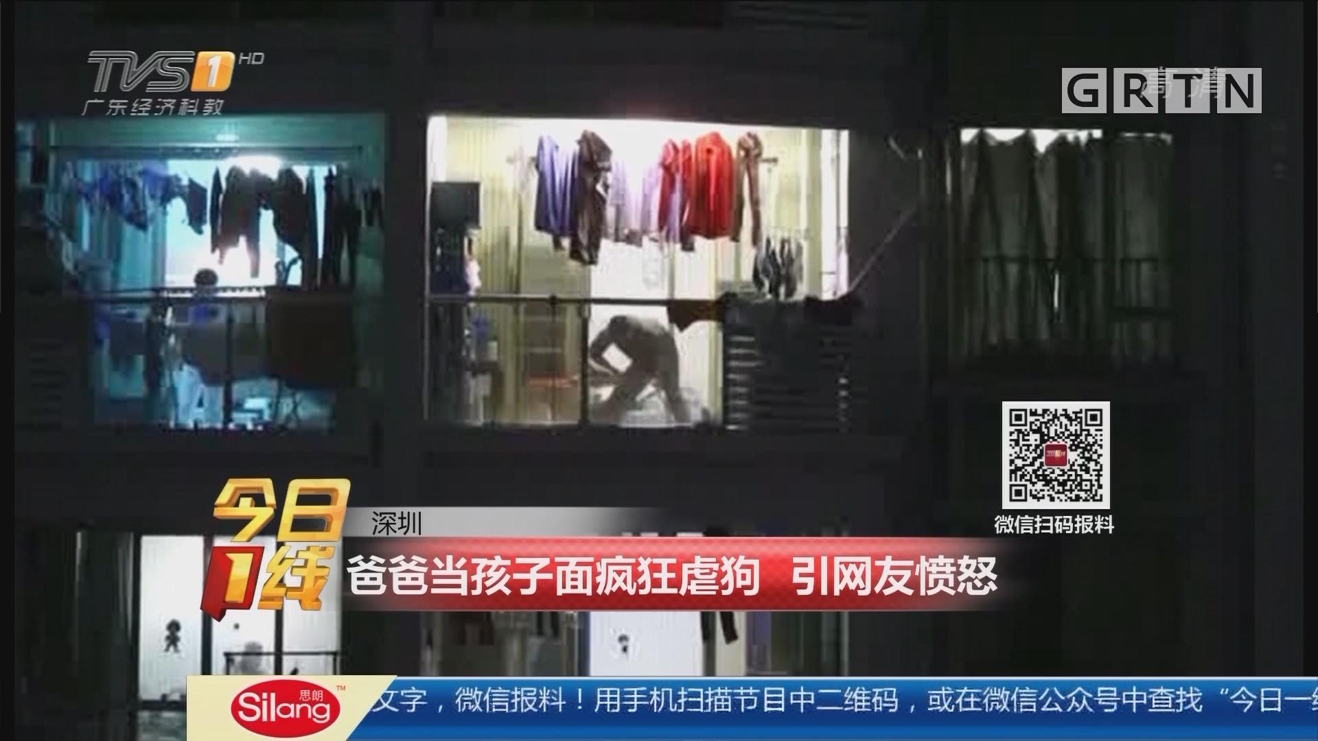 深圳:爸爸当孩子面疯狂虐狗 引网友愤怒