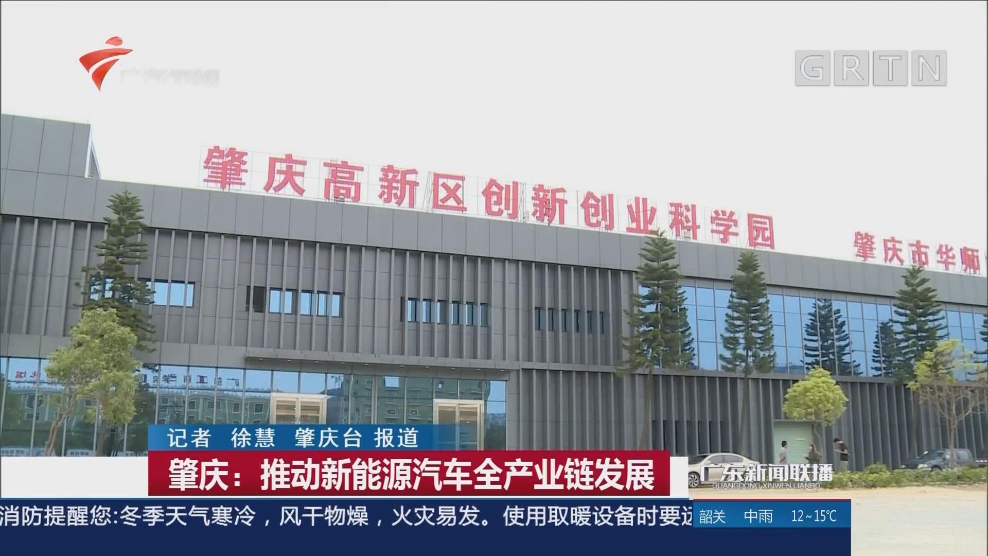 肇庆:推动新能源汽车全产业链发展
