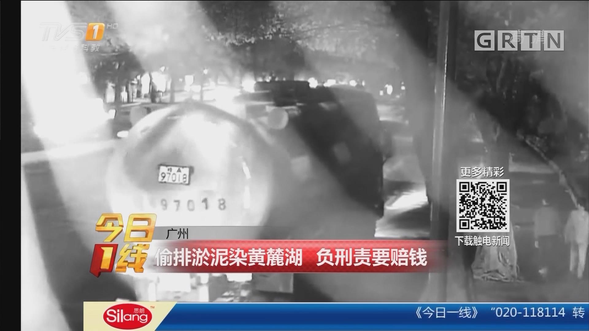 广州:偷排淤泥染黄麓湖 负刑责要赔钱