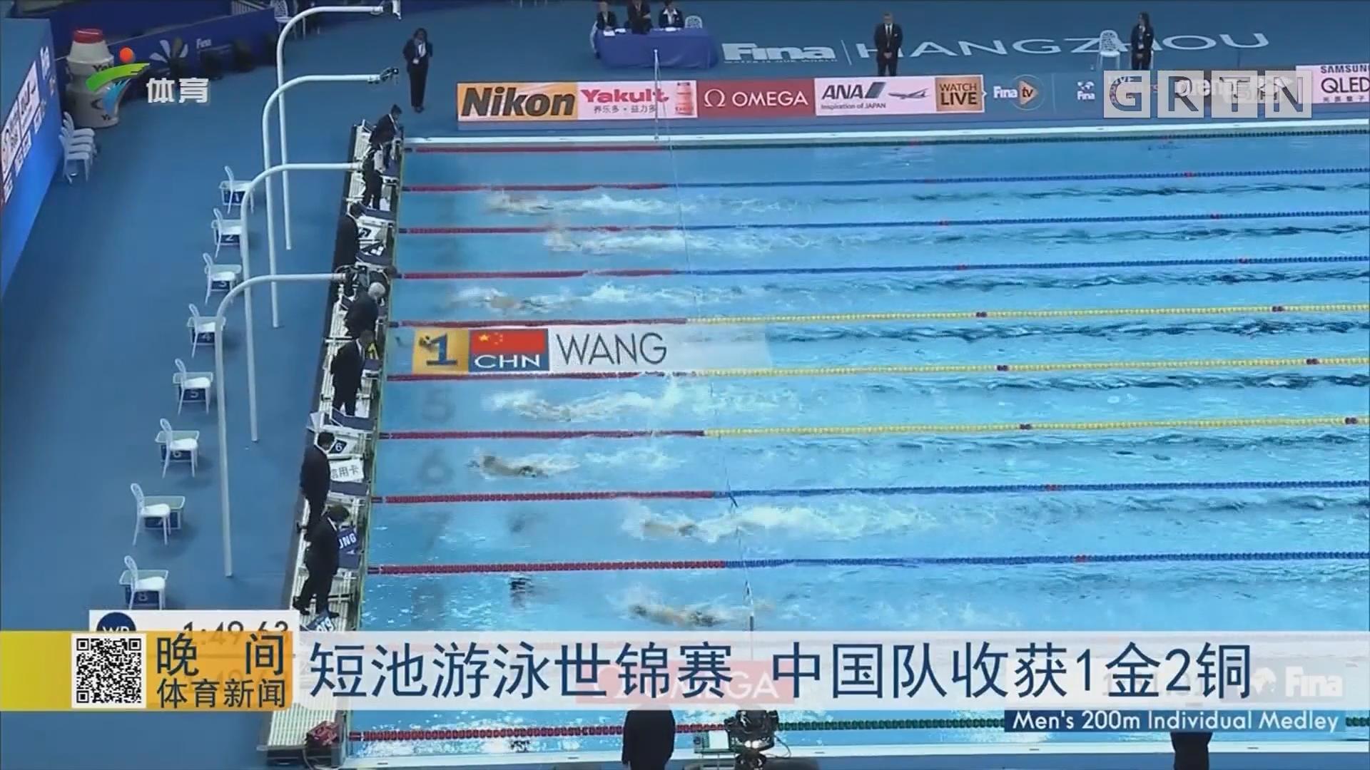 短池游泳世锦赛 中国队收获1金2铜