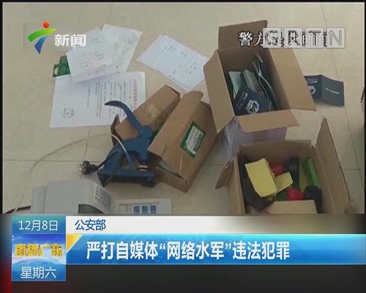 """公安部:严打自媒体""""网络水军""""违法犯罪"""
