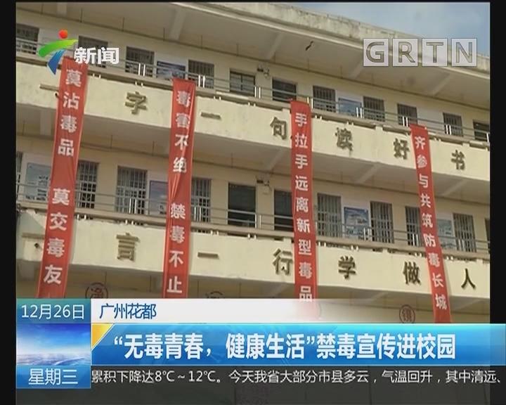 """广州花都:""""无毒青春,健康生活""""禁毒宣传进校园"""