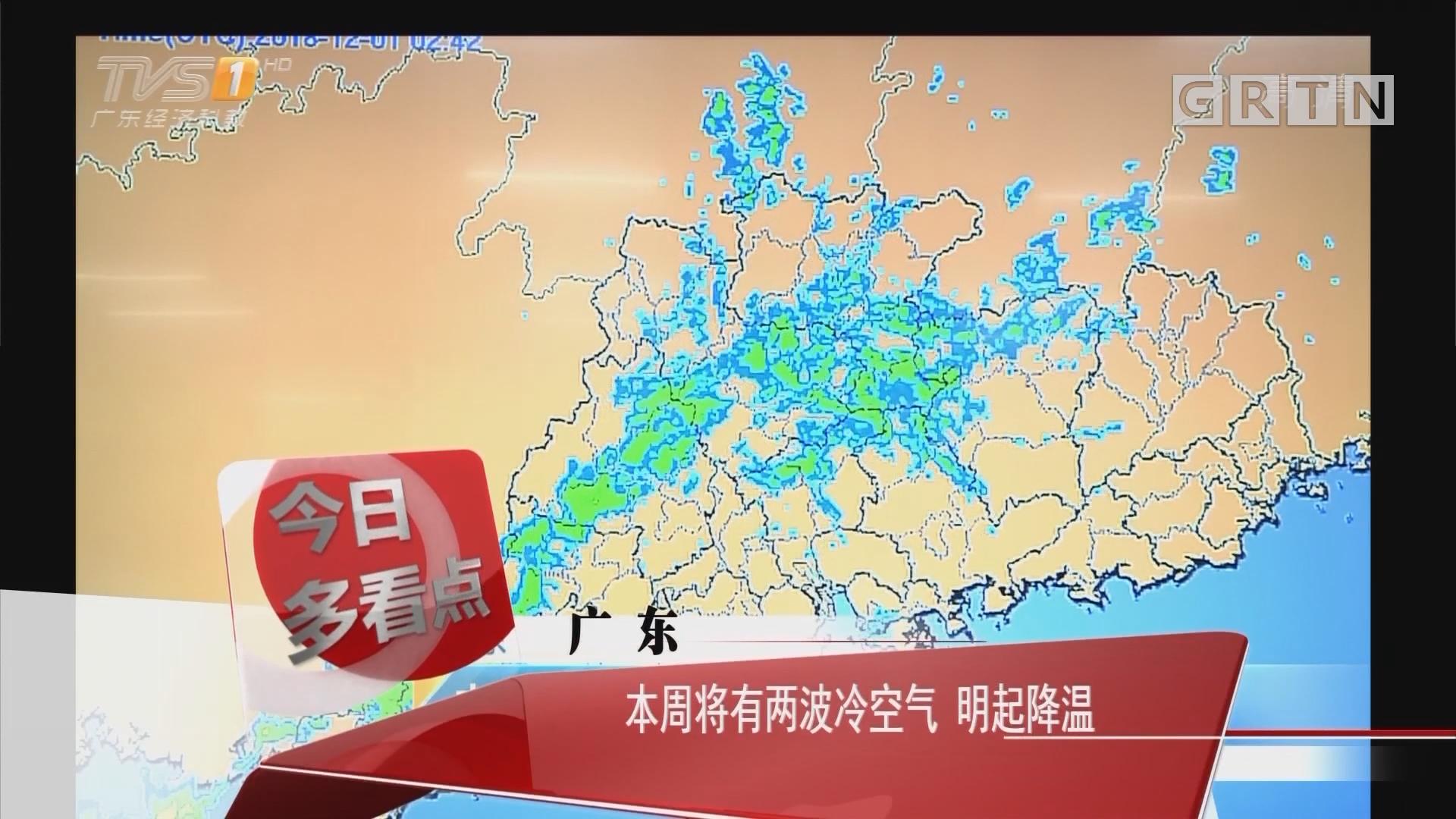 广东:本周将有两波冷空气 明起降温