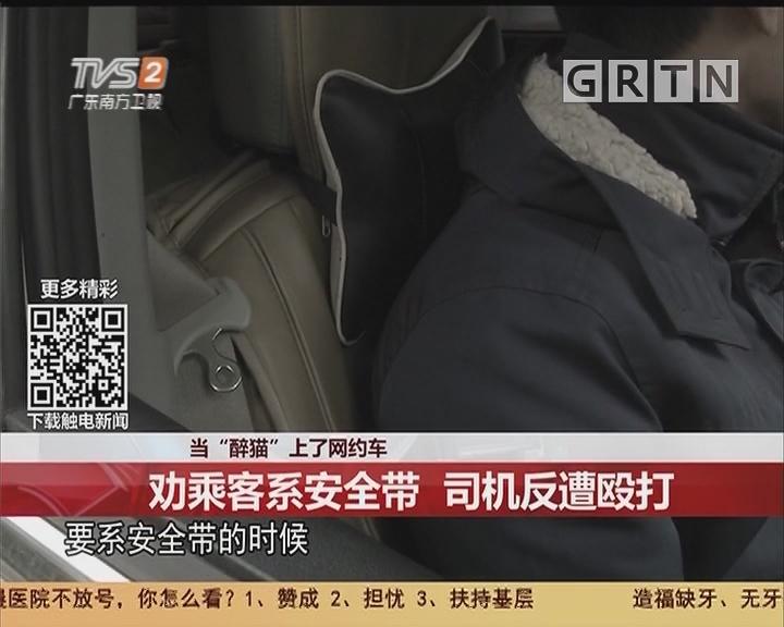 """当""""醉猫""""上了网约车:劝乘客系安全带 司机反遭殴打"""