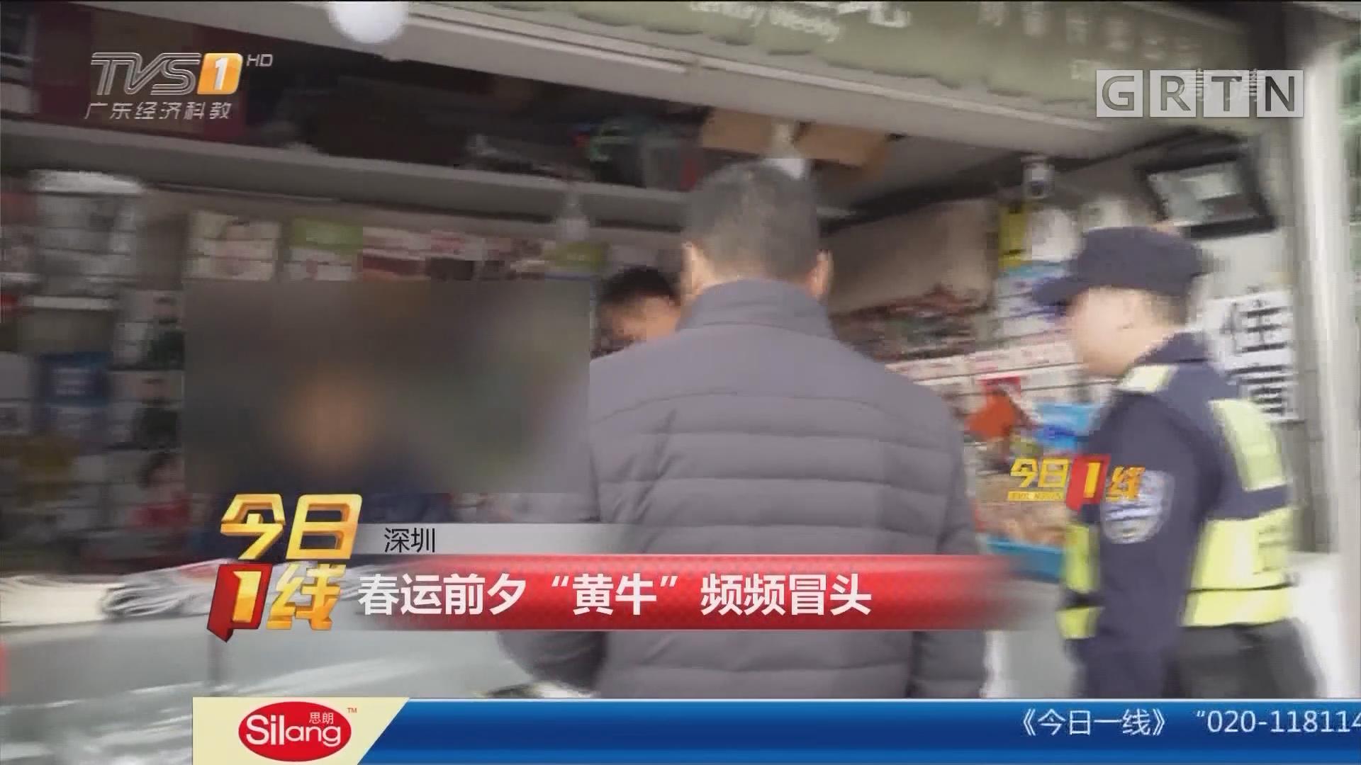 """深圳:春运前夕 """"黄牛""""频频冒头"""