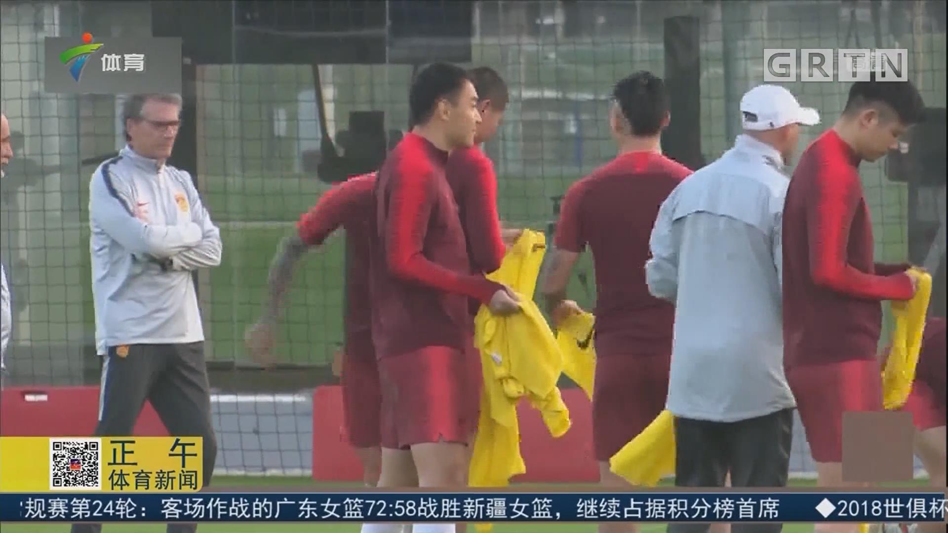 国足适应比赛用球 教学比赛意义重大