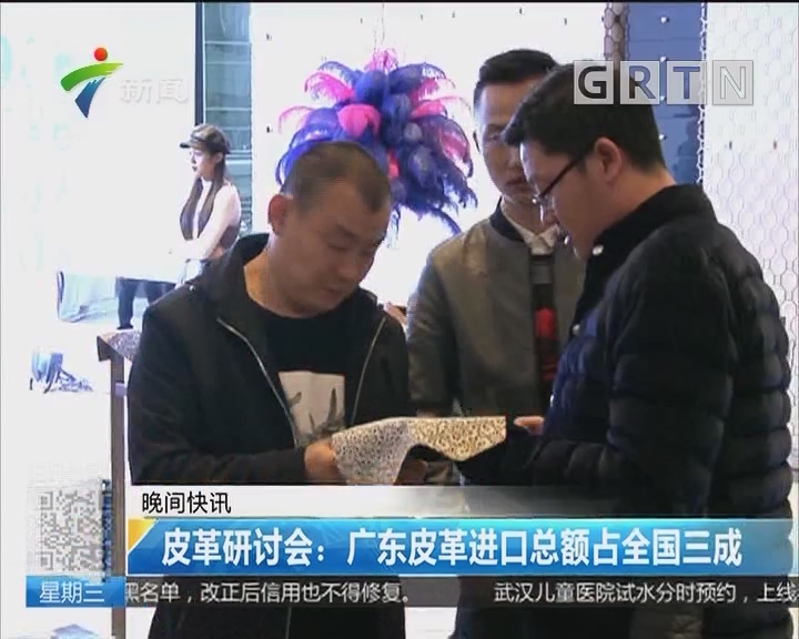 皮革研讨会:广东皮革进口总额占全国三成