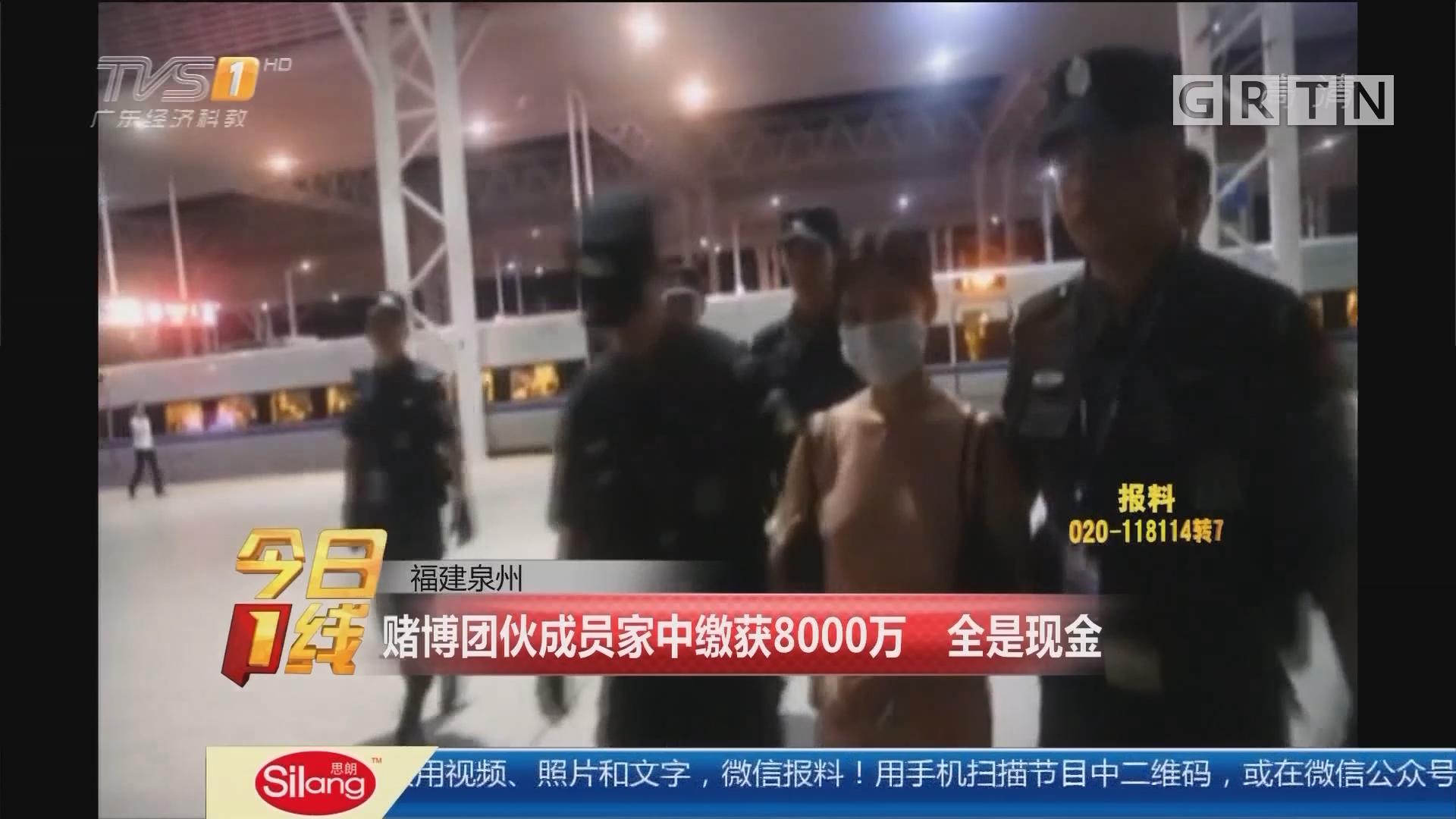 福建泉州:赌博团伙成员家中缴获8000万 全是现金