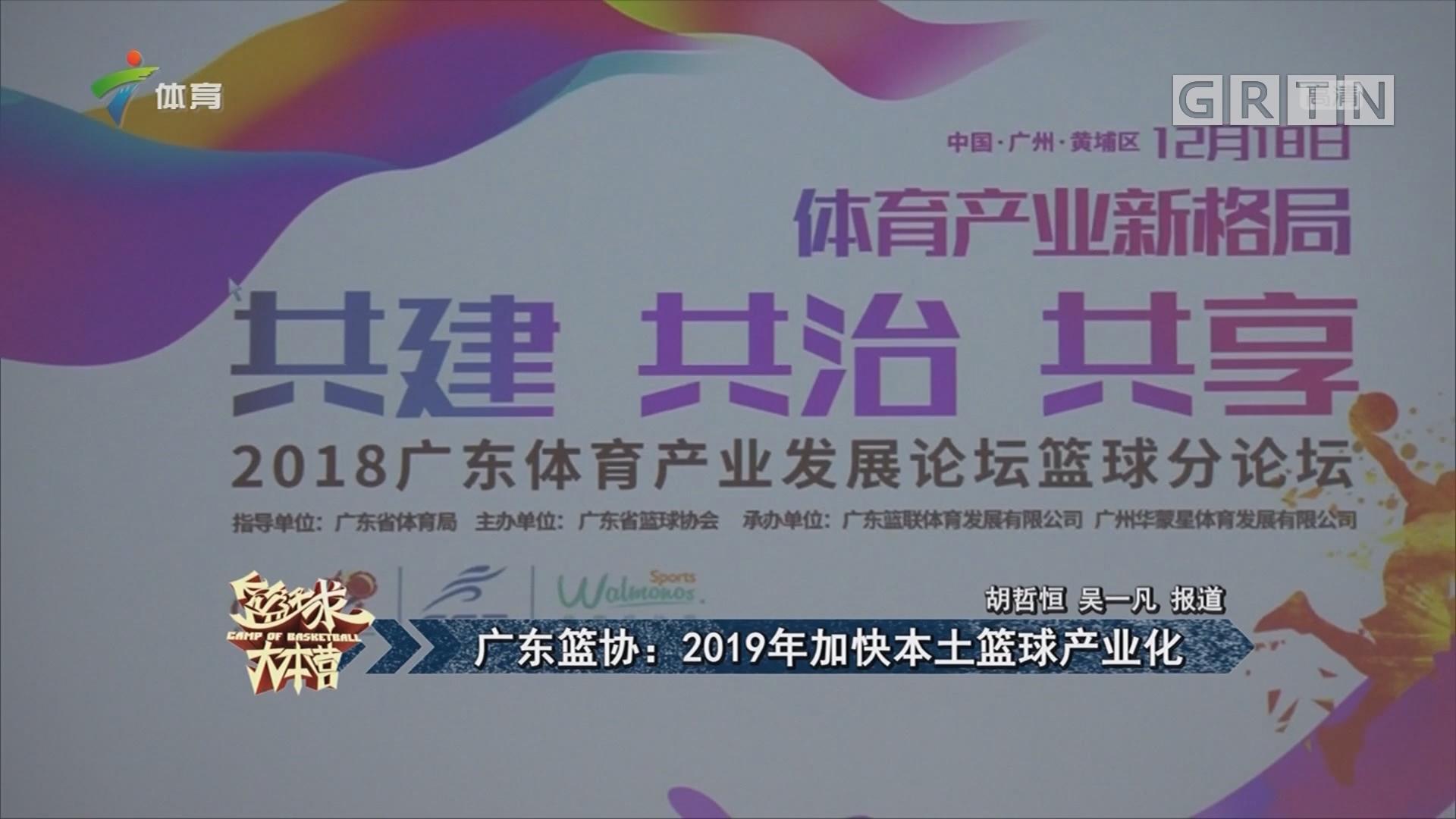广东篮协:2019年加快本土篮球产业化