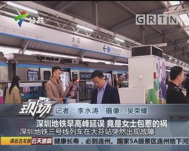 深圳地铁早高峰延误 竟是女士包惹的祸