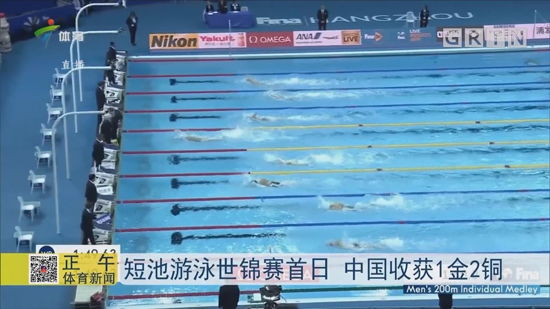 短池游泳世锦赛首日 中国收获1金2铜