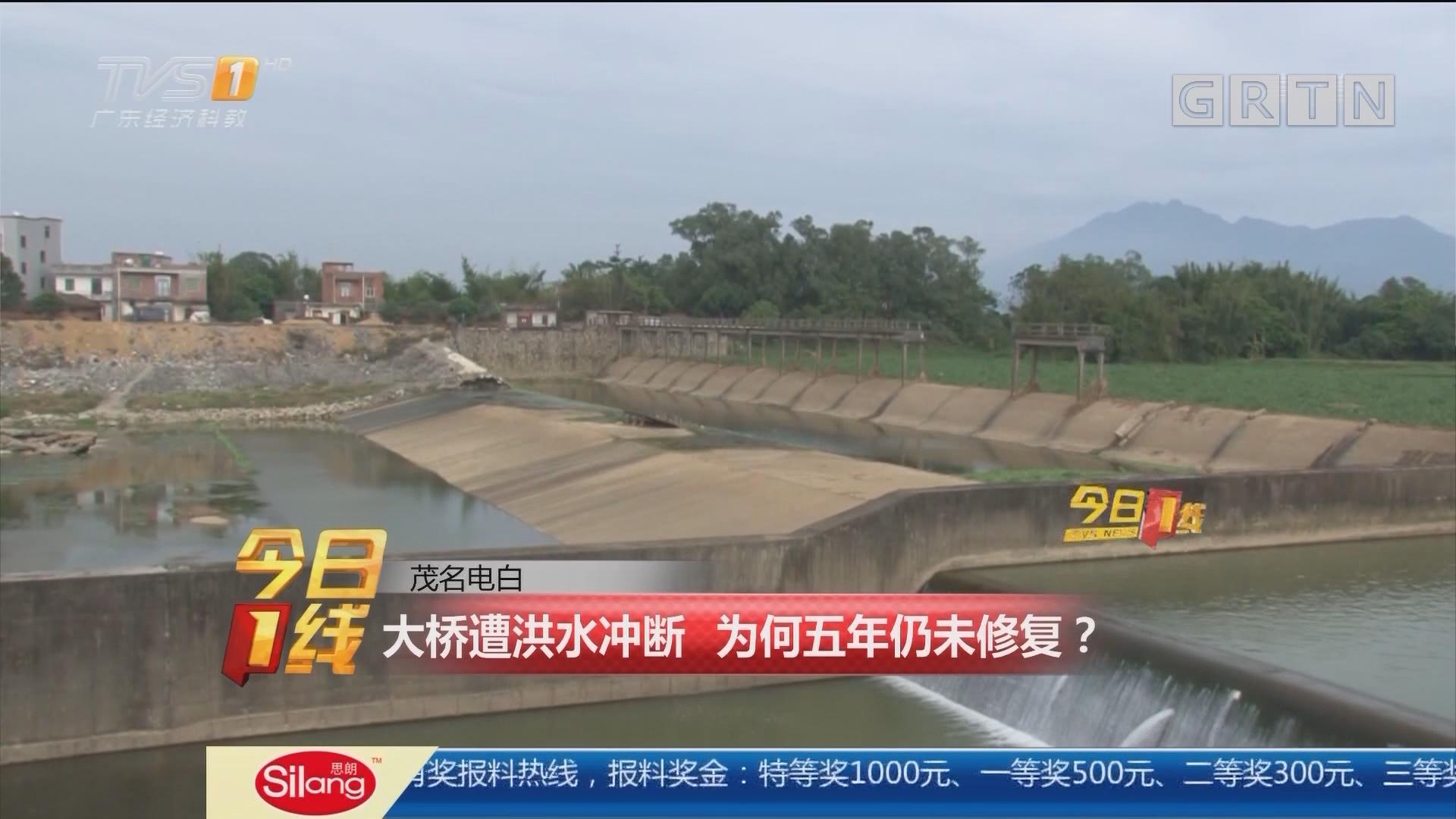 茂名电白:大桥遭洪水冲断 为何五年仍未修复?