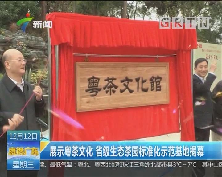 展示粤茶文化 省级生态茶园标准化示范基地揭幕
