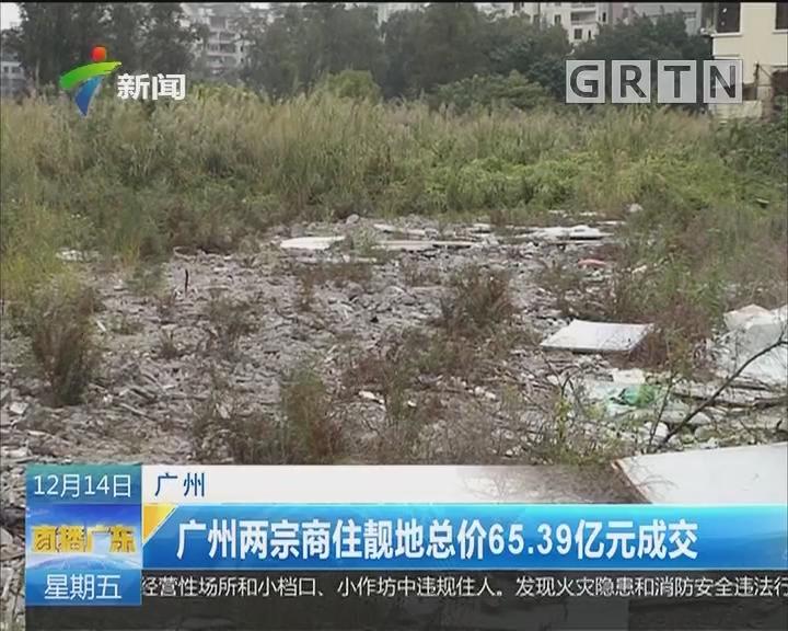 广州:广州两宗商住靓地总价65.39亿元成交