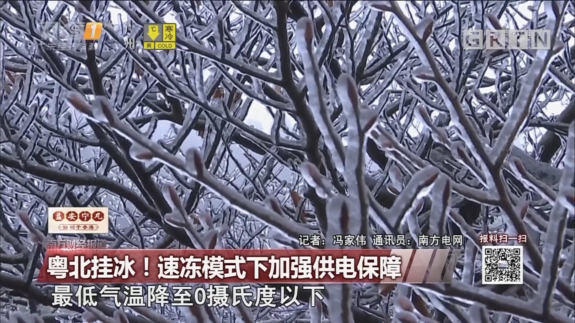 粤北挂冰!速冻模式下加强供电保障