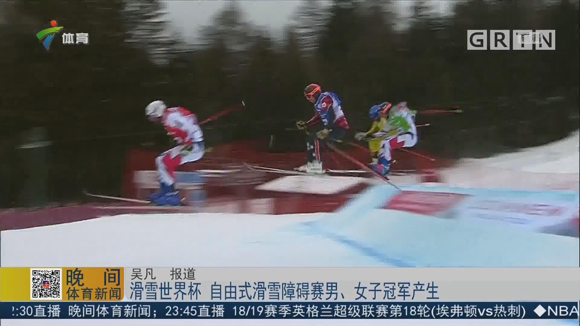 滑雪世界杯 自由式滑雪障碍赛男、女子冠军产生