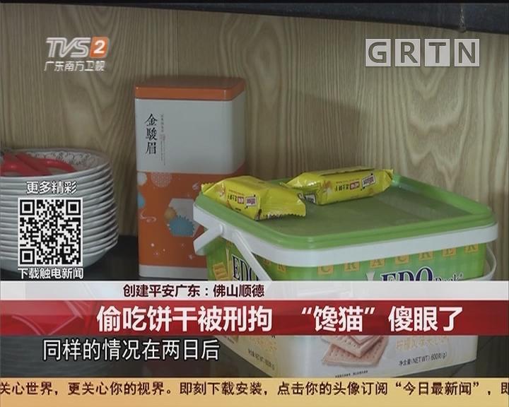 """创建平安广东:佛山顺德 偷吃饼干被刑拘 """"馋猫""""傻眼了"""