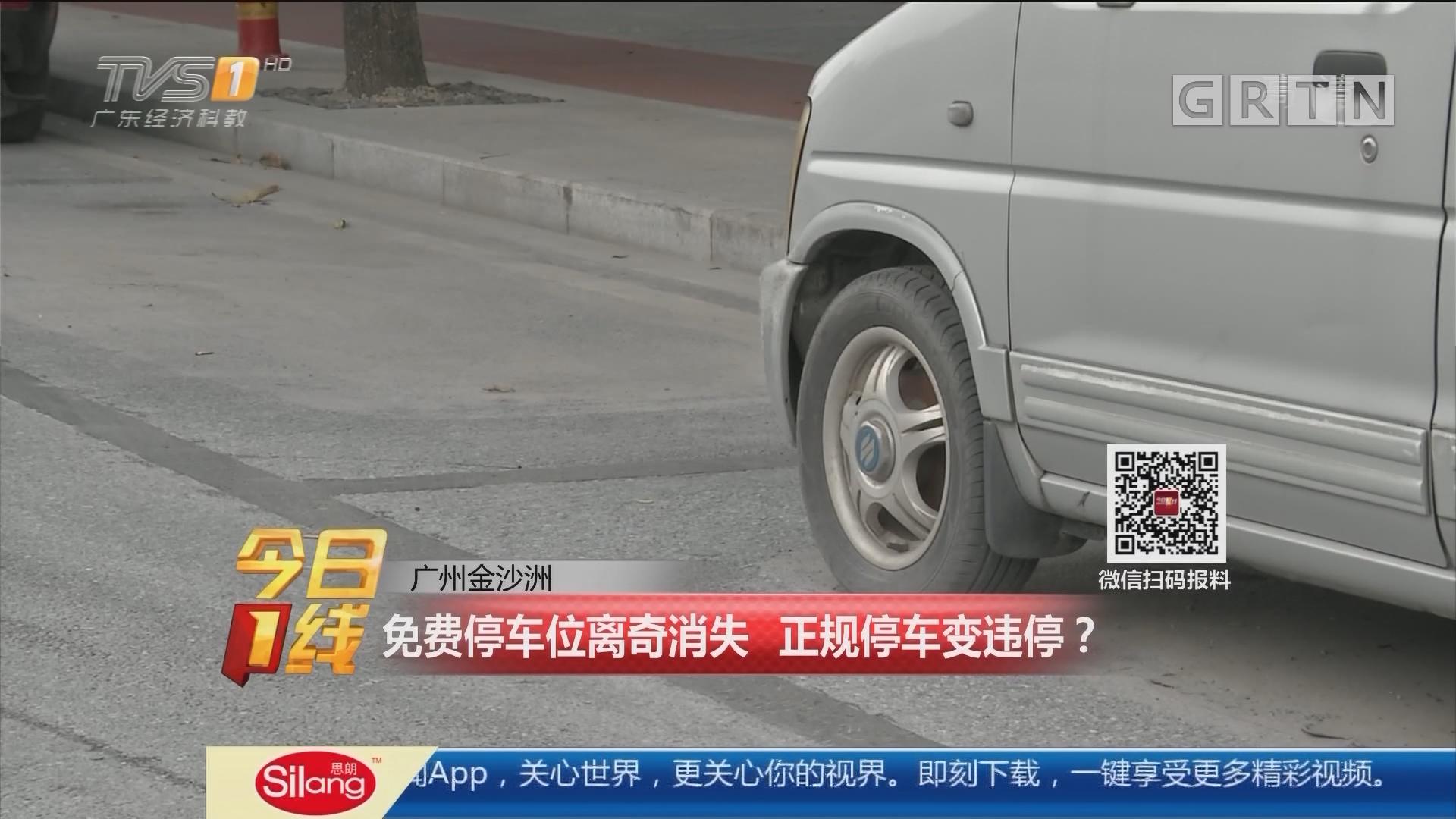 广州金沙洲:免费停车位离奇消失 正规停车变违停?