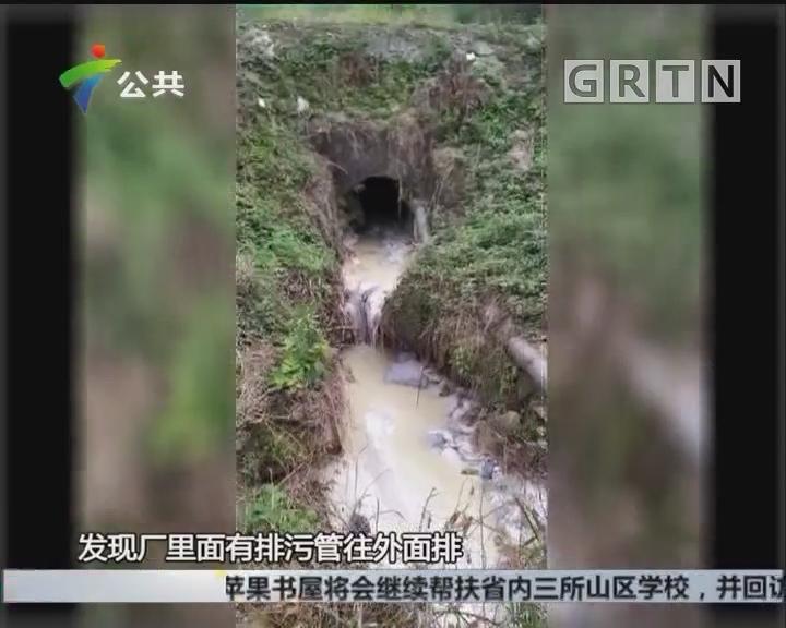 肇庆:河水突然变白 环保部门取样调查