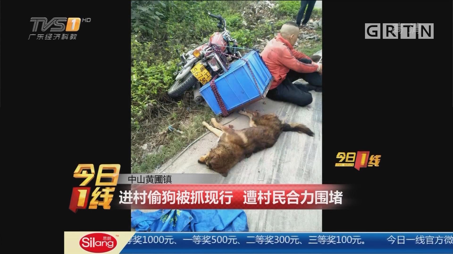 中山黄圃镇:进村偷狗被抓现行 遭村民合力围堵