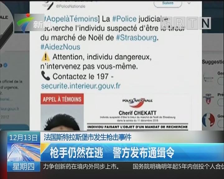 法国斯特拉斯堡市发生枪击事件:枪手仍然在逃 警方发布通缉令