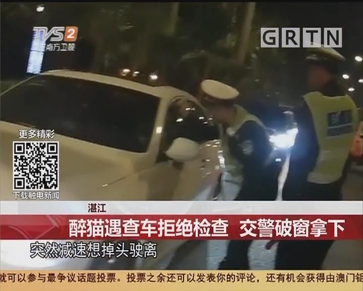 湛江:醉猫遇查车拒绝检查 交警破窗拿下
